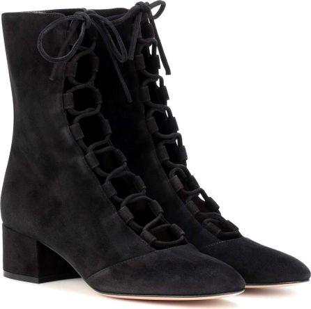 Gianvito Rossi Delia suede ankle boots