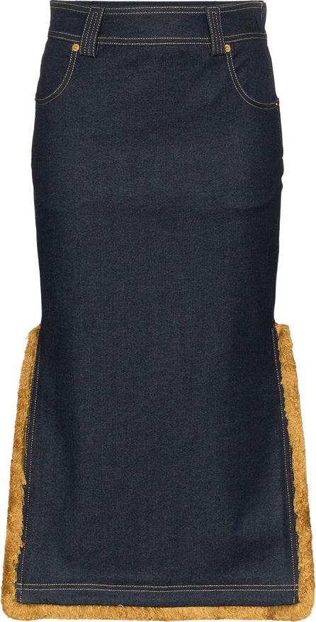 Versace High-Waisted Denim Midi-Skirt