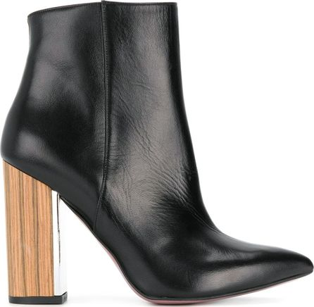 Albano pointed contrast heel boots