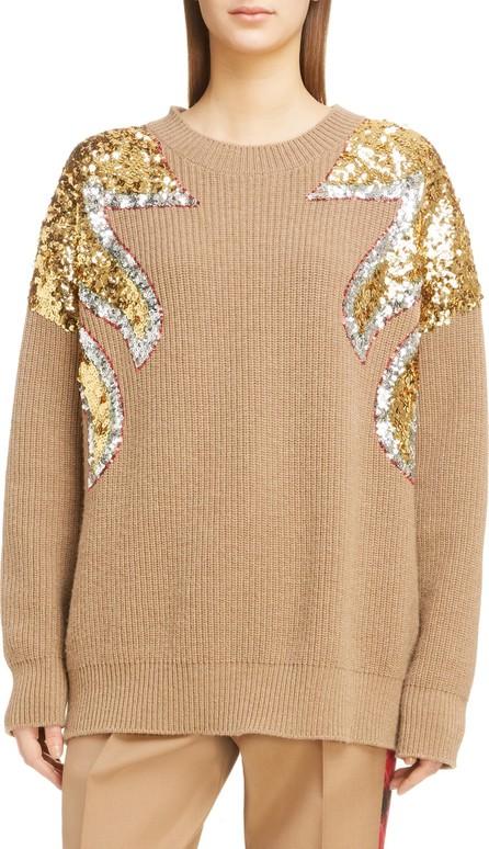 N°21 Nº21 Sequin Shoulder Wool Sweater