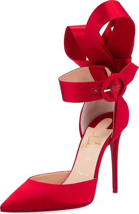 Christian Louboutin Raissa Satin Red Sole Sandals