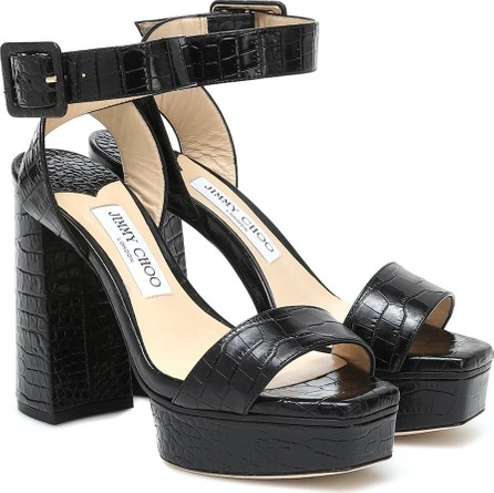 Jimmy Choo Jax 115 croc-effect sandals