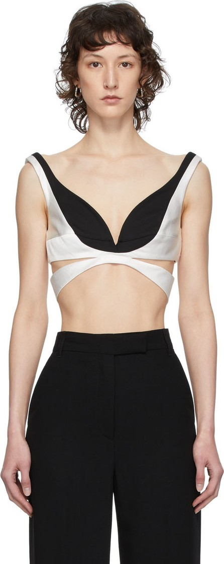 Haider Ackermann Black & White Cut-Out Bustier