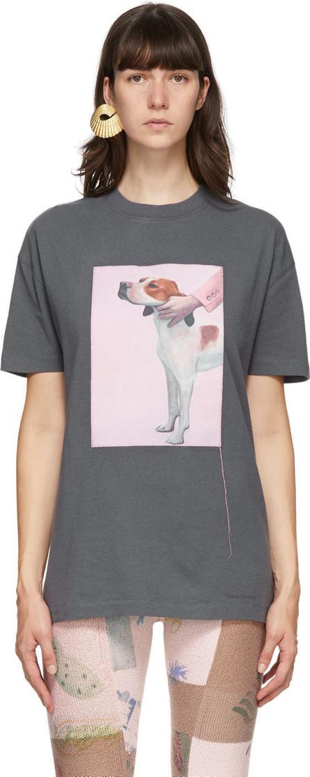 Acne Studios Grey Dog Patch T-Shirt