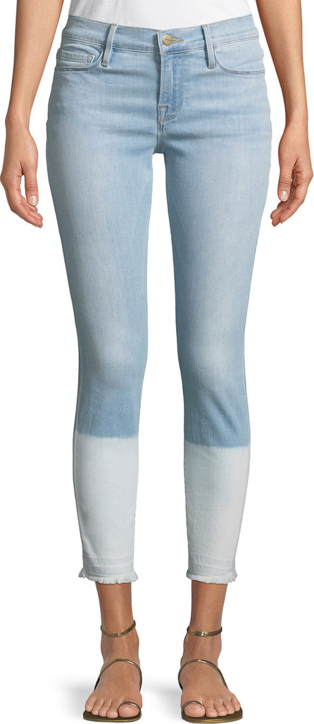 FRAME DENIM Le Skinny de Jeanne Crop Released-Hem Jeans
