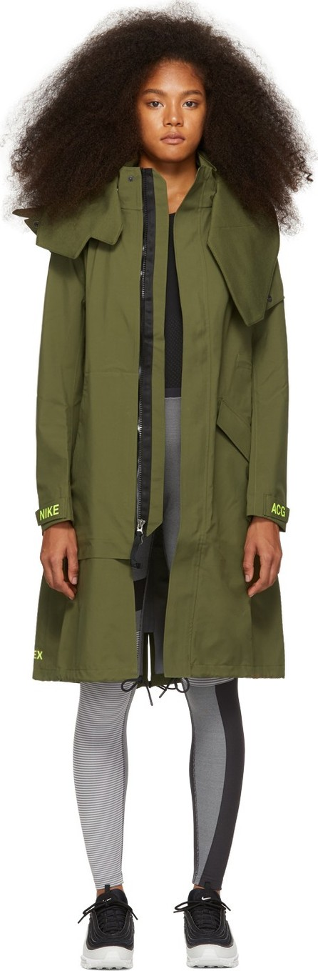 NikeLab Green Errolson Hugh Edition Hooded Coat