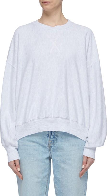 Bassike Button back yoke organic cotton oversized sweatshirt