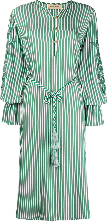 Adriana Degreas Striped cut out sleeve dress
