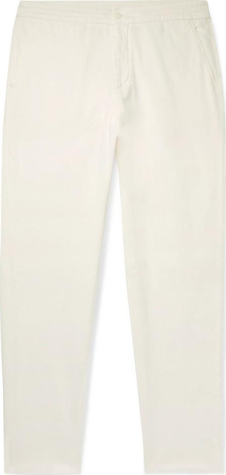 Ermenegildo Zegna Stretch Cotton and Silk-Blend Twill Drawstring Trousers
