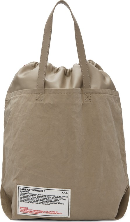 A.P.C. Beige 'Care Of Yourself' Tote