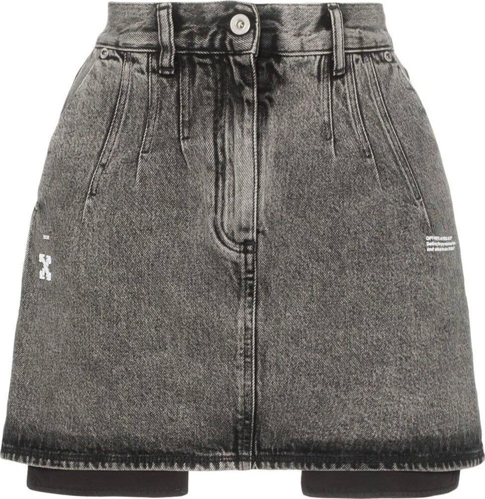 a0f14635b High Waisted Denim Skirt Acid Wash