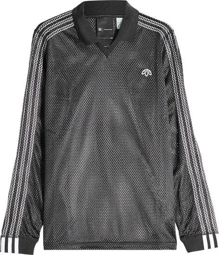 Adidas Originals by Alexander Wang Mesh Long Sleeve Polo Top