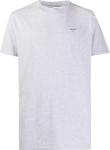 Off White Logo-print relaxed-fit T-shirt