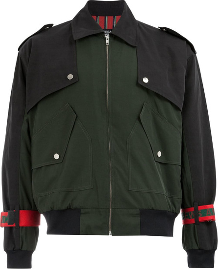 Andrea Crews Tie cuff military jacket