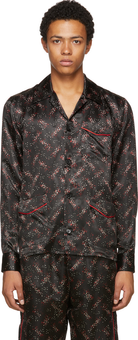 Bottega Veneta Black Pixel Pattern Pyjama Shirt