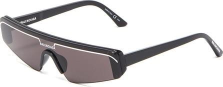 Balenciaga Contrast browline mirror angular frame sunglasses