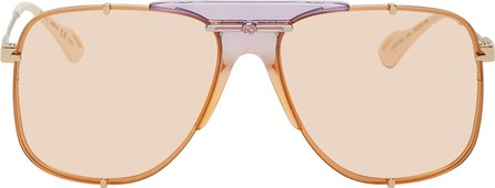 Gucci Gold & Orange Bold Bridge Sunglasses