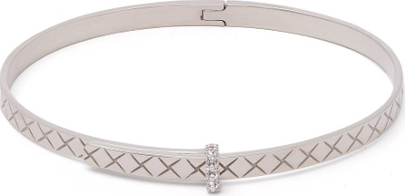 Bottega Veneta Intrecciato 18kt white-gold & diamond bracelet