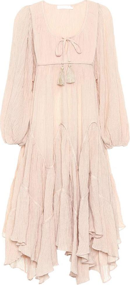 Zimmermann Bayou cotton-blend midi dress