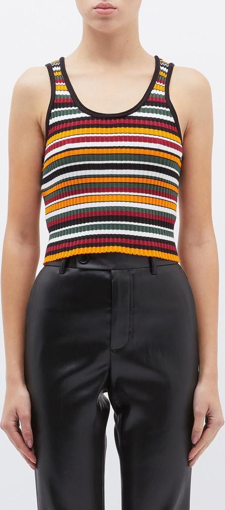 3.1 Phillip Lim Variegated stripe rib knit cropped tank top