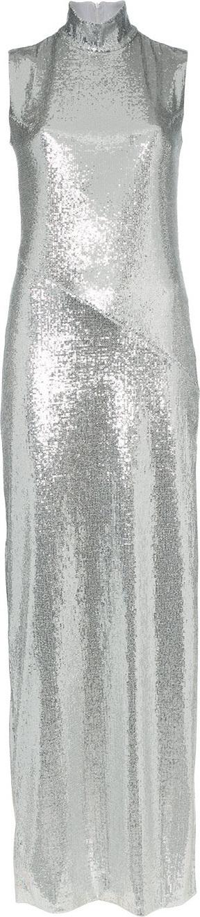 Galvan Galaxy sleeveless sequin dress