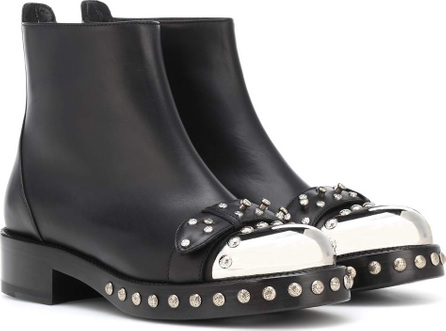 Alexander McQueen Hobnail leather ankle boots