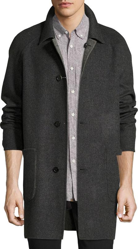 Billy Reid Reversible Virgin Wool-Cashmere Walking Coat