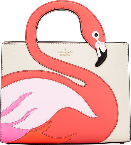 Kate Spade New York by the pool flamingo sam satchel bag