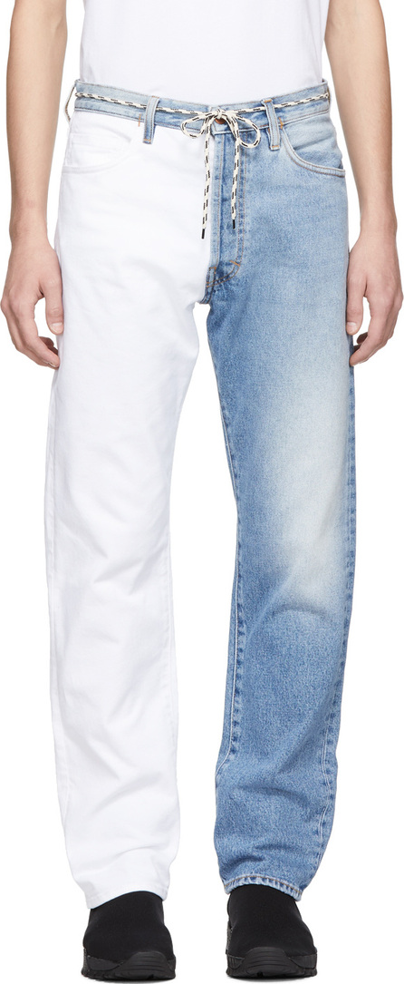 Aries Blue & White Pascal Lilly Jeans