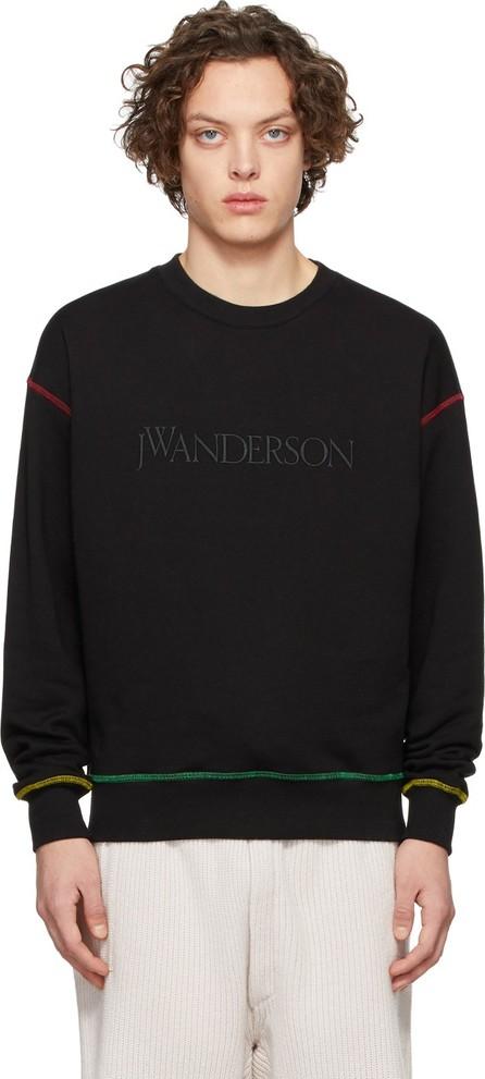 J.W.Anderson Black Embroidered Logo Sweatshirt