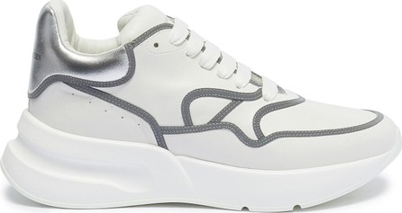 Alexander McQueen Contrast trim oversized outsole leather sneakers