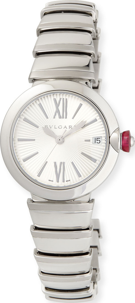 BVLGARI 33mm LVCEA Stainless Steel Watch