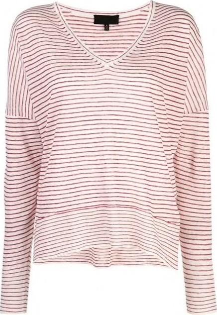 Nili Lotan Maggie Long Sleeve Striped Sweater