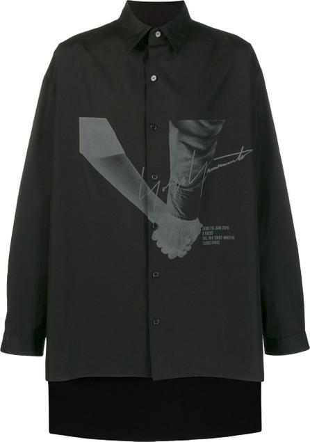 Yohji Yamamoto Hands print cotton shirt