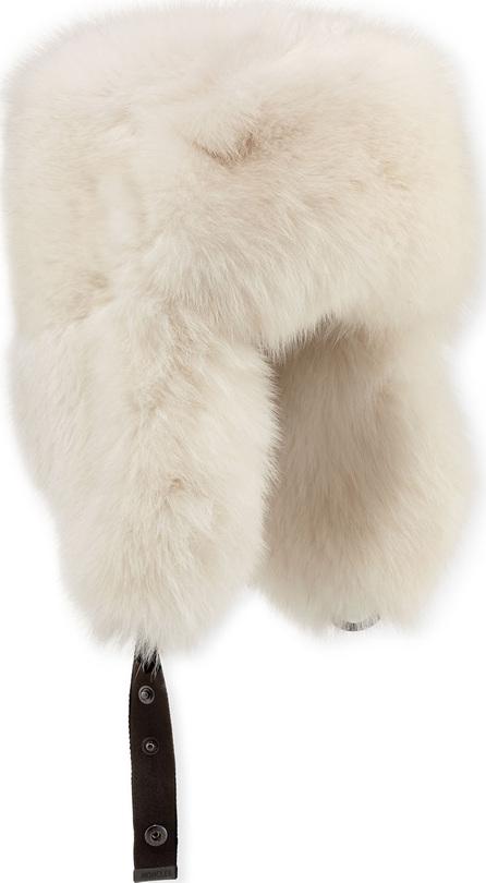 Moncler Fox-Fur Aviator Hat
