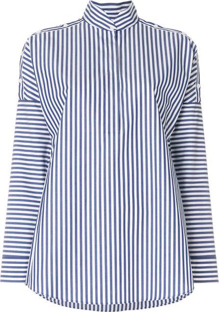 Akris Striped stand-collar shirt