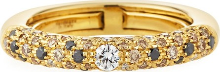 Adolfo Courrier Jungle 18k Yellow Gold Ring w/ Light Diamonds, Size 6.75