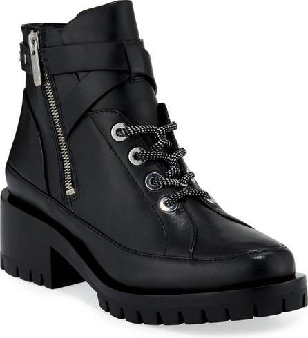 3.1 Phillip Lim Hayett Leather Lace-Up Booties