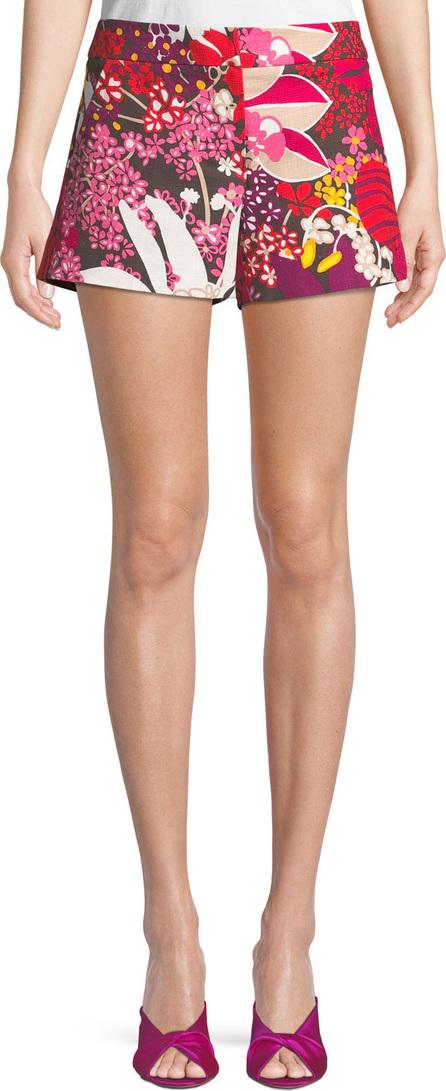 Trina Turk Corbin Flor de Jalisco Floral-Print Stretch-Cotton Shorts