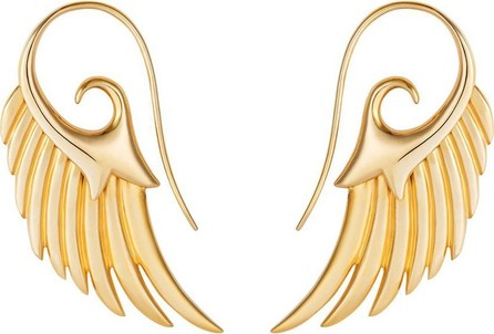Noor Fares Gold Fly Me To The Moon Earrings