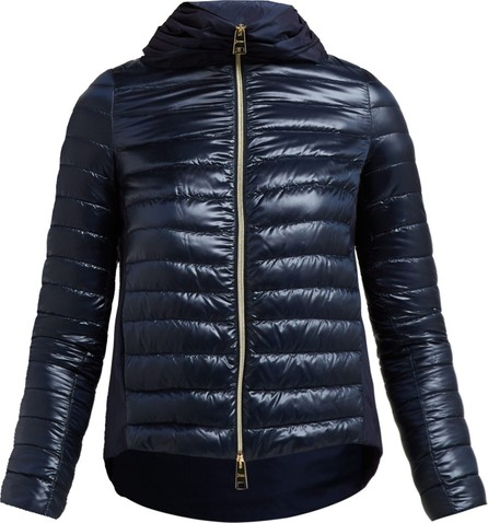 Herno Pleated-collar quilted-down jacket