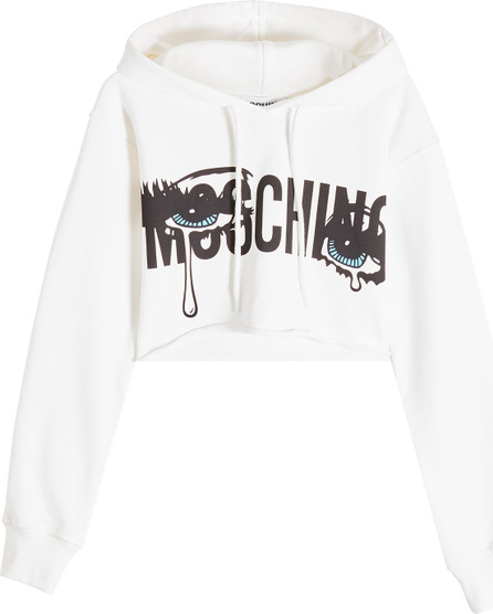 Moschino Cropped Cotton Hoody
