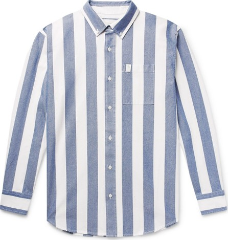 Aimé Leon Dore Button-Down Collar Striped Cotton Oxford Shirt