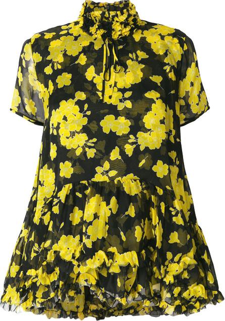 ROCHAS Floral ruffle trim blouse