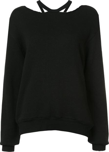 Ben Taverniti Unravel Project Cut out collar sweatshirt