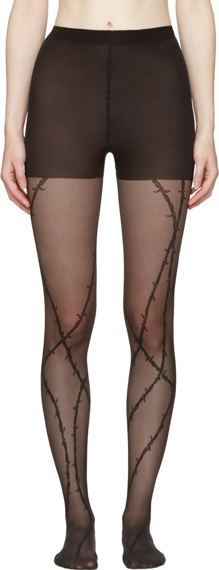 Alexander Wang Black Barbed Wire Stockings