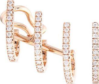 Messika 'Gatsby' diamond 18k rose gold hoop earrings