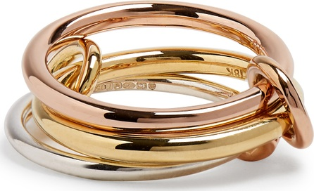 Spinelli Kilcollin Raneth silver, yellow and rose-gold ring