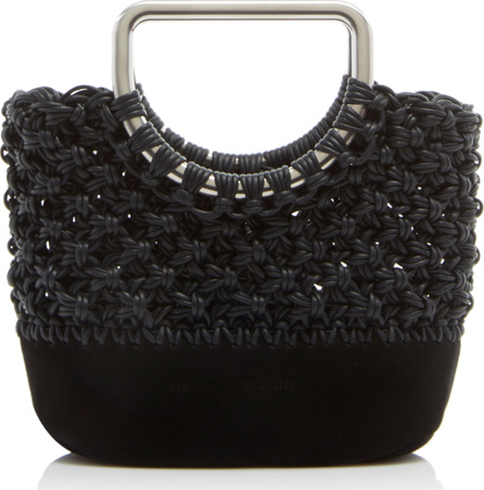 Proenza Schouler Leather-Trimmed Macrame Tote