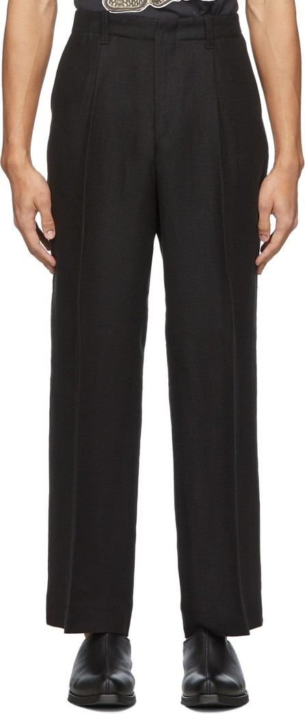 Our Legacy Black Fine Sack Borrowed Chino Trousers